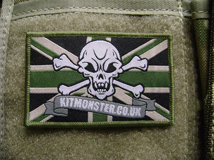 Flag Patch, Large, Velcro, Kit Monster, MTP Green