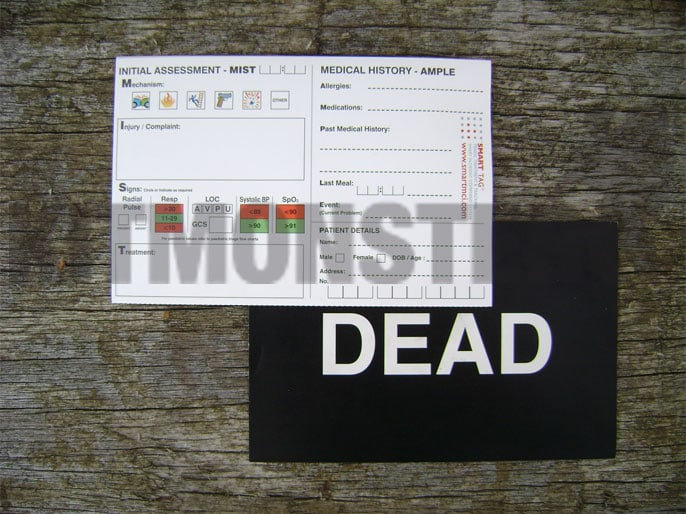 Pack Triage Casualty Operational Issue Cards Kit Monster