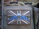 Flag Patch, Large, Velcro, MTP Green, Para Wings