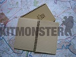 Note Book, Waterproof, Sub A5, Side Bound, Tan, Rite In The Rain