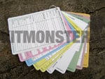 Cards, A6, Slate, Aide Memoire, Commanders, Plastic, 12 dble sid