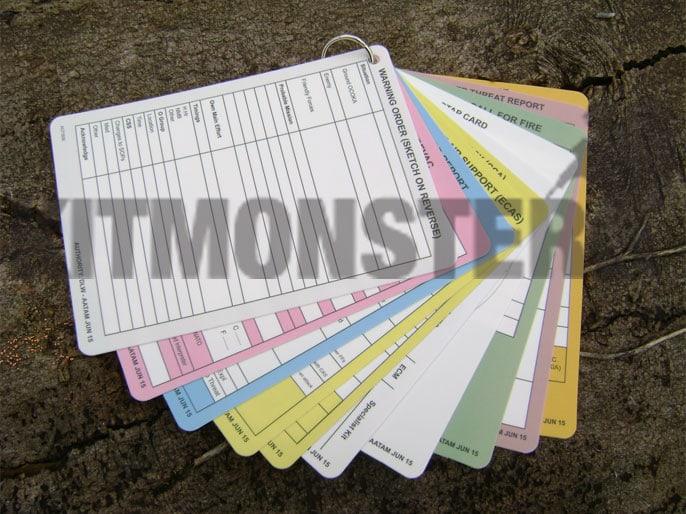 Cards A6 Slate Aide Memoire Commanders Plastic 12 Dble Sid