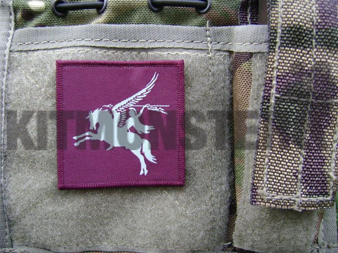 Badge, UB07V, Pegasus, Colour, Large, Velcro